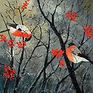 Two birds in winter by calimero