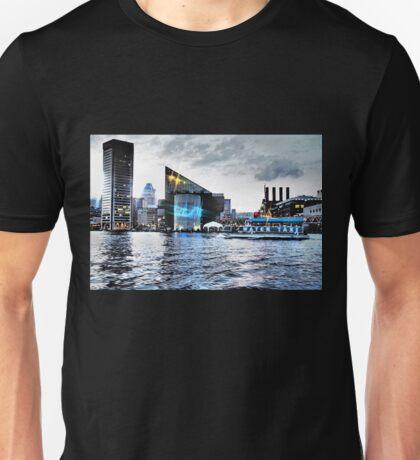 Baltimore City  Maryland Inner Harbor Night Scene Unisex T-Shirt