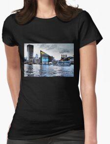 Baltimore City  Maryland Inner Harbor Night Scene Womens Fitted T-Shirt