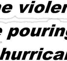 Halsey - Hurricane Lyrics Sticker