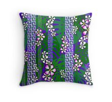 Jungle Blossom Jangle - purple Throw Pillow