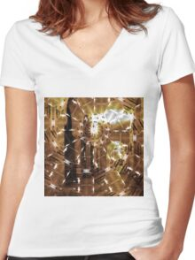 Fractured History Women's Fitted V-Neck T-Shirt