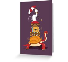 Mr Cat Takes A Journey Greeting Card