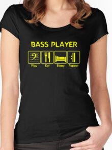 Bass Player -- Play Eat Sleep Repeat Women's Fitted Scoop T-Shirt