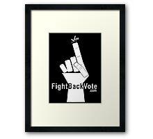 FightBackVote.com Framed Print