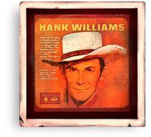 Hank Williams Album Canvas Print