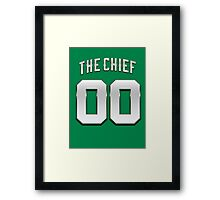 The Chief 00 Basketball Legend Framed Print