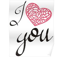 I love you. Poster