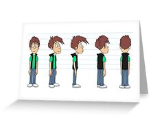 Funny cartoon Character Greeting Card