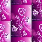 Roses and hearts design ( 3085 Views) by aldona