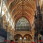 Beautiful Arches of Exeter Cathedral, Devon UK by lynn carter