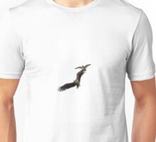White-tailed Sea Eagle Harrassed by Herring Gull Unisex T-Shirt