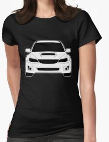 Front Profile WRX STI Sticker / Tee Shirt Designed for Subaru Impreza Fans - White Womens Fitted T-Shirt