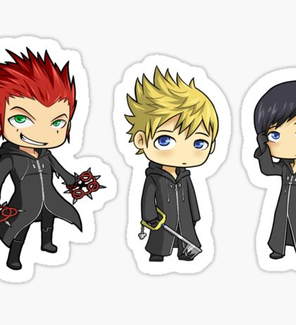 Axel, Roxas and Xion set Sticker