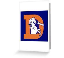 Old Denver Broncos logo Greeting Card