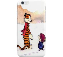 calvin and hobbes snow fuzz iPhone Case/Skin