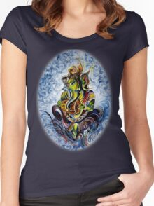 Ganesha 1 Women's Fitted Scoop T-Shirt