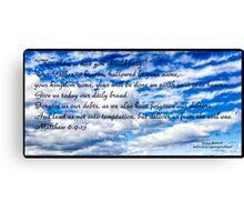 Bible Verse Matthew 6:9-13 Canvas Print