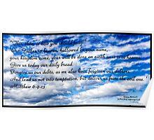 Bible Verse Matthew 6:9-13 Poster