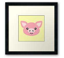Cute Pig Framed Print