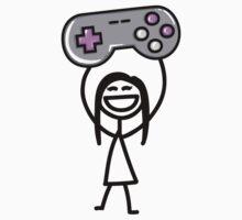 Gamer girl Kids Tee