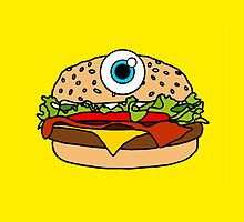 Cyclops Burger Yellow by Lucy Lier