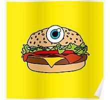 Cyclops Burger Yellow Poster