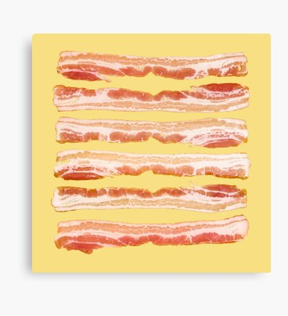 Bacon, Raw Canvas Print