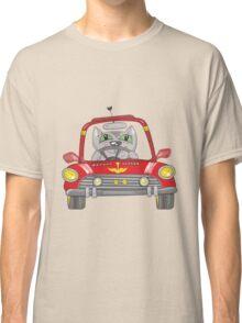 Cat on the car Classic T-Shirt