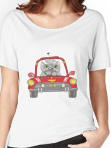 Cat on the car Women's Relaxed Fit T-Shirt