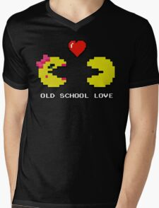 Old School Love - Ms. Pacman and Pac Man - Act I / Act One Mens V-Neck T-Shirt