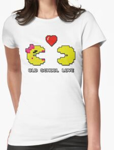 Old School Love - Ms. Pacman and Pac Man - Act I / Act One Womens Fitted T-Shirt