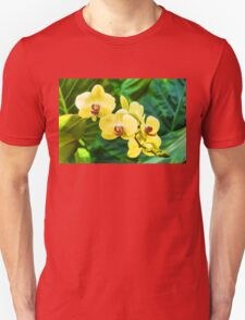 Tropical Impressions - Golden Yellow Orchids Unisex T-Shirt