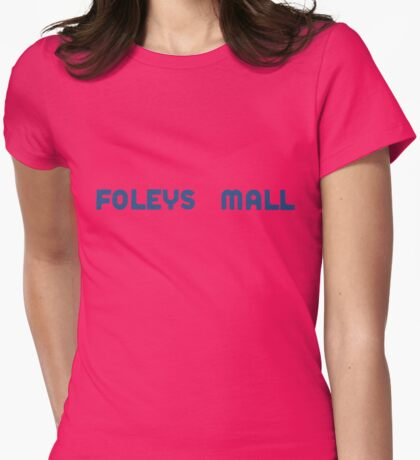 Foleys mall - blue Womens Fitted T-Shirt