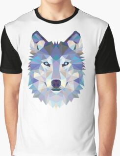 Polygonal Dire Wolf Graphic T-Shirt