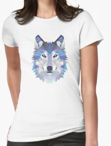 Polygonal Dire Wolf Womens Fitted T-Shirt