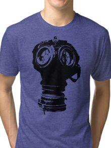 Gas Mask Illustration Tri-blend T-Shirt
