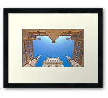 belem tower cloister. Framed Print