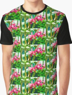 Tropical Impressions - Vibrant Pink Orchids Graphic T-Shirt
