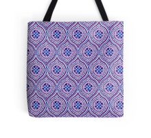 Light Mauve, Plum and Blue Traditional Ogee Pattern Tote Bag