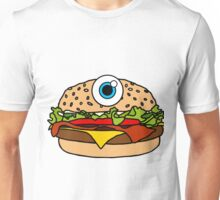 Cyclops Burger Pattern Blue Unisex T-Shirt