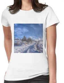 Wintry Road Womens Fitted T-Shirt