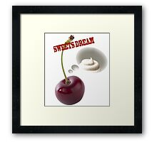 sweets dreams their sweet dreams - cherry Framed Print
