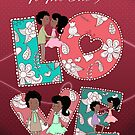 To the one I love Patterned Love And Loving African American Couple by Moonlake