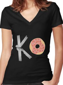 FAT OWENS FAT Women's Fitted V-Neck T-Shirt