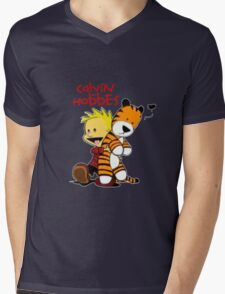 Calvin And doll hobbes Mens V-Neck T-Shirt