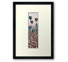 Abstract In Chamoisee, Blue and Wheat  Framed Print