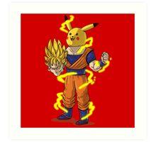 Goku Super Saiyan Unmasked Art Print