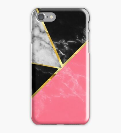 Marble color collection geometric abstract design iPhone Case/Skin