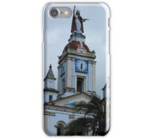Statue on a Bell Tower iPhone Case/Skin